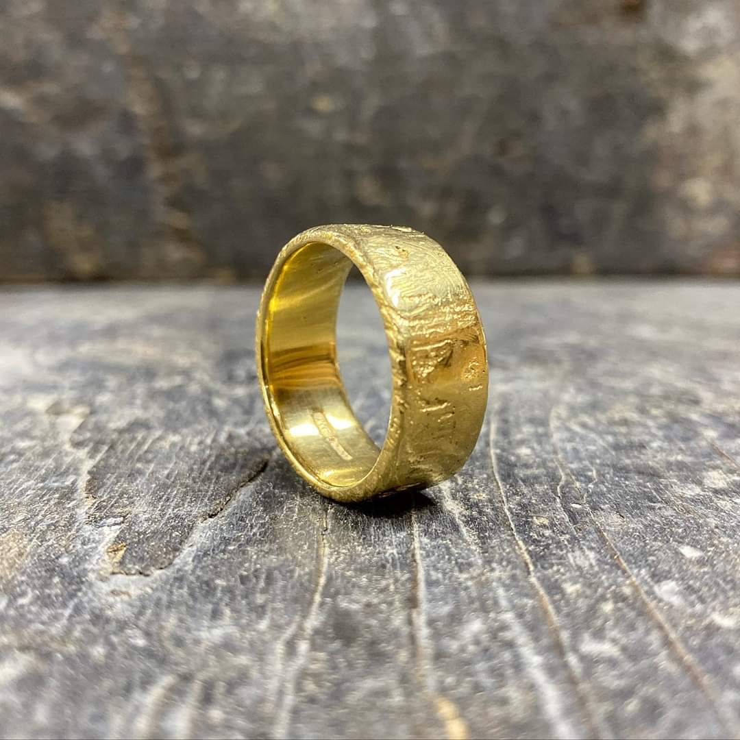Sand Cast Yellow Gold Ring