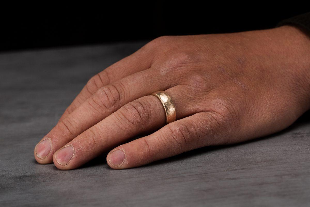Brushed Yellow Gold Ring