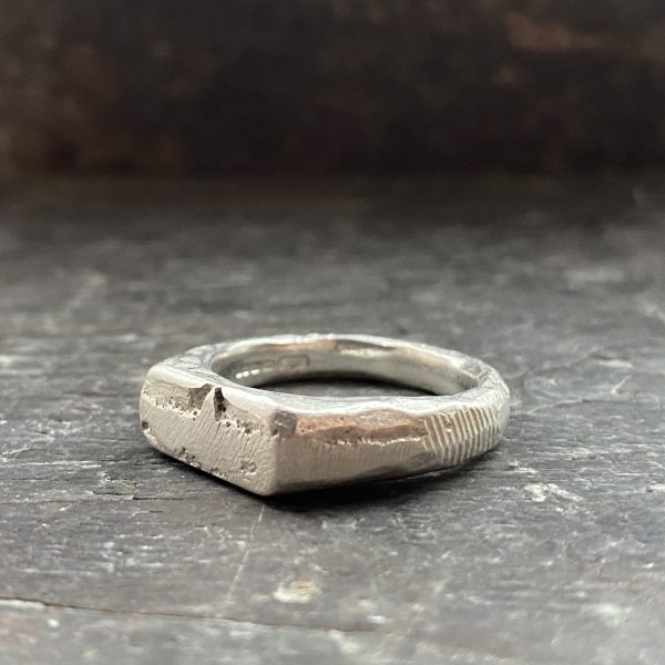 Silver Cast Signet Ring