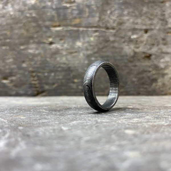 Mild Steel Damascus Ring