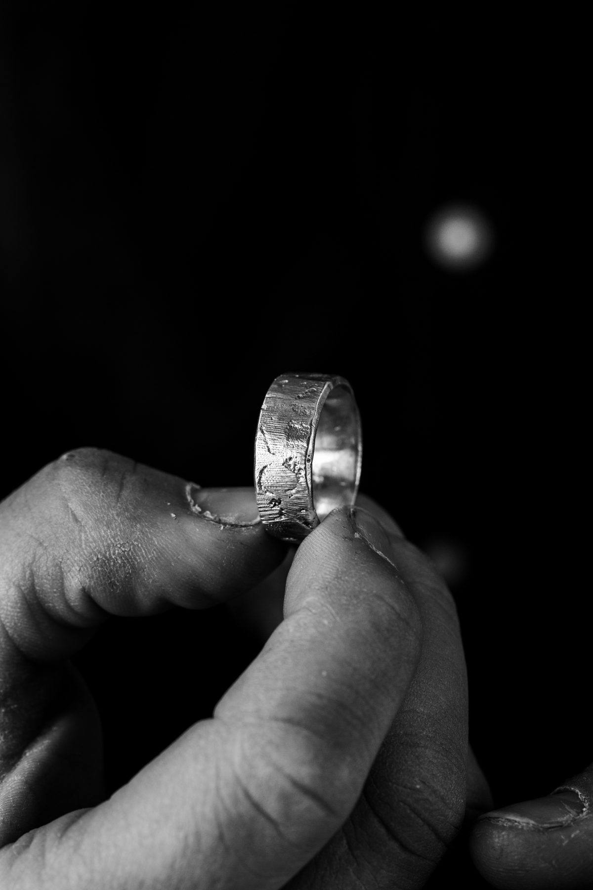 Heavy Silver Cast Ring