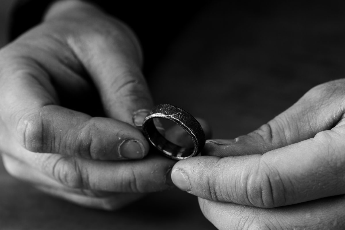 Men's Silver Wedding Rings