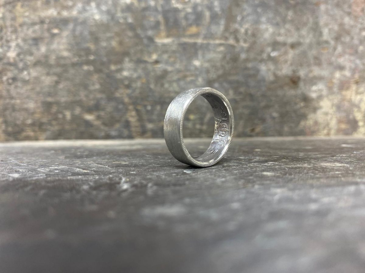Textured Coin Ring - Wedding Rings - Jewellery